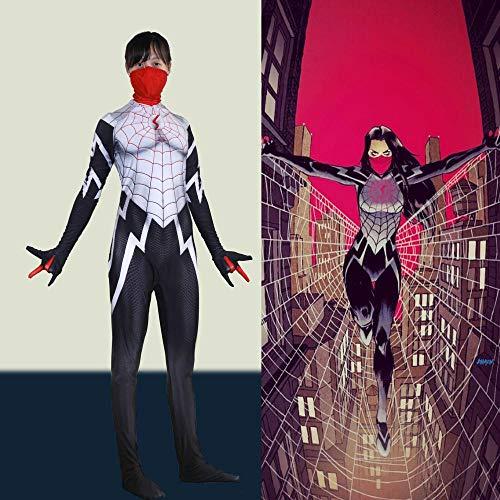 werty Cosplay Kleidung Marvel Masked Weibliche Spiderman Cosplay Lycra Anime Kostüm 3D Digitaldruck Enge Weihnachten Halloween Kostüm Für Erwachsene Tragen (Weibliche Marvel Kostüm)