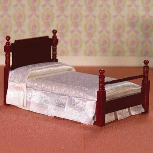 Dolls House 2563 Bett Victorian Single Bed Mahagoni 1:12 für Puppenhaus -