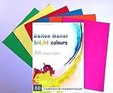 Dalton Manor A4 clair vif CARTE 60 feuille paquet couleurs assorties