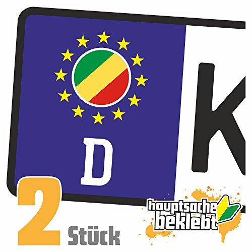 Kongo, Republik Kennzeichen Aufkleber Sticker Nummernschild Land Country Nation -