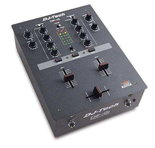 DJ-TECH DIF 1S scratch dj mixer a 2 canali