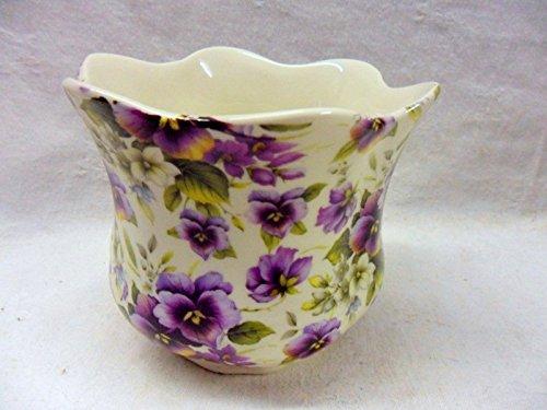 violette Stiefmütterchen Design Kleiner Übertopf