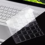XSKN Ultra Thin Clear TPU Keyboard Skin Translucent Keyboard Cover for Microsoft Surface Book US layout