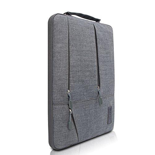 Laptop Tasche Macbook Sleeve Hülle,2017 Neueste Notebook Handtasche für 13-13,3 Zoll MacBook Pro/MacBook Air/Ultrabooks, Multifunktionale Laptop Aktentasche mit Vordertaschen (Graues, 13.3 Zoll) (Neueste Mac Pro)