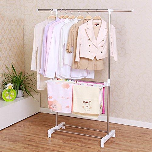 Wäscheständer, doppelpolige Garderobe, Kleiderbügel für Innen und Außen, multifunktionaler Handtuchhalter
