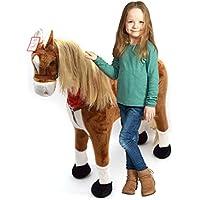 Pink Papaya - Cavallo di razza Elsa 105 cm, Cavallo di peluche con suoni, cavallo in piedi XXL