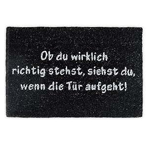 relaxdays tapis d 39 accueil paillasson d 39 entr e fibre de coco texte en allemand tapis de plancher. Black Bedroom Furniture Sets. Home Design Ideas