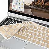 """GMYLE Metallische Champagner Gold Silikon-Tastatur-Abdeckung für Acer 11.6"""" Chromebook C720 C720P C740"""