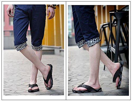 GLTER Männer Flip Flops Strand Schuhe Breathable Sandalen Sommer neue Hausschuhe Mode Pool Schuhe Grey