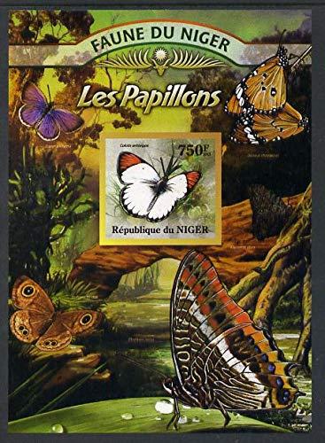Niger Republic 2013 Butterflies #2 imperf m/s u/m BUTTERFLIES JandRStamps