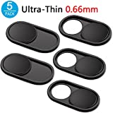 CloudValley Copertura Webcam Metallo Slider, 0,66mm Ultra-Sottile Copri Webcam Cover per Macbook Pro, Computer Portatile, Mac, PC, Laptop, iPad, iPhone, Protezione la tua vita digitale[5 PACK]
