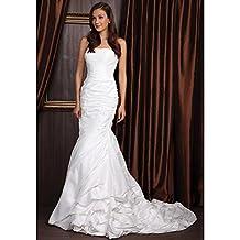 kekafu Trompeta / SIRENA Strapless con corte de tafetán tren vestido de novia con cordón por