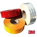 Workshop Plus 3M ece104konform Conspicuity Tape 50m Rolle erhältlich in Rot, Weiß Oder Bernstein