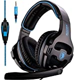 [2016 SADES SA810 New Released Multi-Platform New Xbox one PS4 Gaming Headset ], Gaming Headsets Headphones For New Xbox one PS4 PC Laptop Mac iPad iPod (Black&Blue)