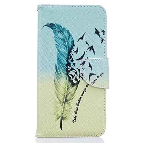 Tosim Huawei GT3 Hülle Leder, Klapphülle mit Kartenfach Brieftasche Lederhülle Stossfest Handy Hülle Klappbar für Huawei GT3 / Honor 5C - TOBFE52614#2