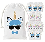 Kreatwow Unicorno Party Favore Borse per Le Ragazze dei Ragazzi Birthday Party Supplies 12 Pack