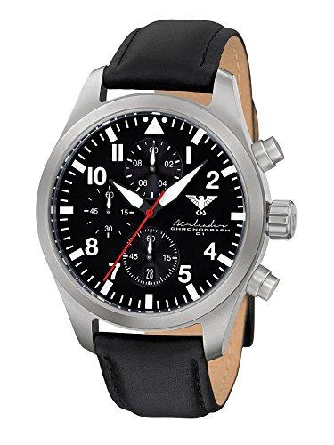 KHS Reloj para Hombre Analógico Cuarzo con Brazalete de Cuero KHS.AIRSC.L
