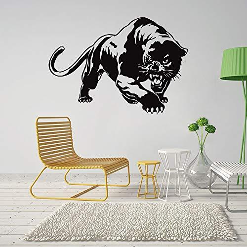 Neue kreative leopard vinyl wandaufkleber tier wohnkultur wohnzimmer abnehmbare diy kunst wandtattoo 57 * 82 cm Furry Leopard