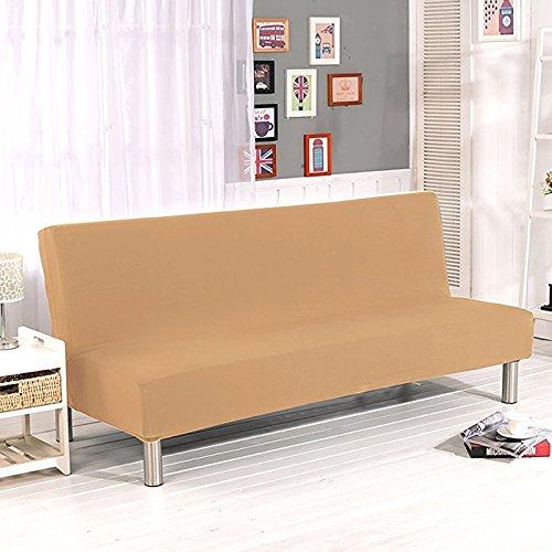 Surenhap Einfarbig Stretch Sofabezüge schutzhülle ohne armlehnen,Faltbar und Elastisch Sofaüberwurf (Beige) (Schonbezug Sofa Lila)