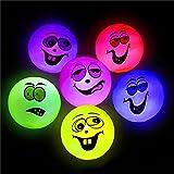 German Trendseller 6 x LED Springbälle - für Kinder ┃ 5 cm ┃ Kindergeburtstag ┃ Super Sprungkraft ┃ Mitgebsel ┃ Blinklicht ┃ 6 Stück