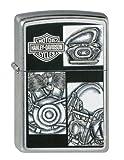 Zippo 50810579 Feuerzeug mit Motiv Harley-Davidson Motorradteile, 3,5x1,0x5,5cm
