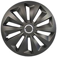 schwarz+ silber 38,1 cm - 4-er Set 15 Zoll Cartrend  75171 Premium- Radzierblenden 4er- Satz Adelaide