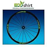 Ecoshirt PJ-E528-B7ZJ Pegatinas Stickers Llanta Rim Mavic 26 27,5 29 Am43 MTB Downhill, Verde
