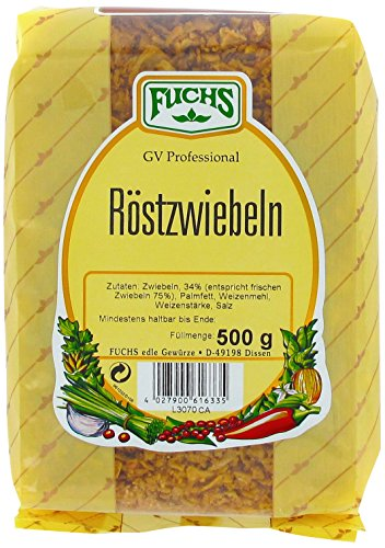 Dekorationen Hot Dog (FUCHS Röstzwiebeln, 5er Pack (5 x 500)
