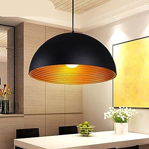 LLYY-Lampade ufficio creativo luce minimalismo moderno ristorante semi ombra bianco e nero LED Lampadario in ferro battuto a due livelli