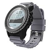 Limiz Smart Watch Sportuhr GPS Bluetooth IP68 Wasserdicht Pulsmesser Schrittzähler S968 (Schwarz, Rot, Silber) (Color : Silver)
