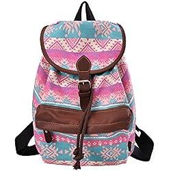 DGY - Moda la mochila de lona y PU cuero Bolsos de Mujer Bolsa de Viaje Mochilas Tipo Casual 164 (Pobre)