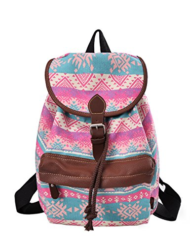 Douguyan Mode Retro Tasche Freizeitrucksack Reiserucksack Schulrucksack Daypack girls Backpack fashion Rucksack damen E00164 Zauberwürfel Grün