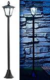 Royal Gardineer Solarleuchten: Solar-LED-Gartenlaterne, PIR-Sensor, Dämmerungssensor, 100 lm, 160 cm (LED Gartenlampen)