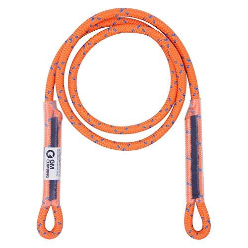 GM Klettern 8mm (5/40,6cm) Prusik-Dartpfeile Swen Aug in Aug pre-sewn 76,2cm/114,3cm, Fluorescent Orange-1.15 meter