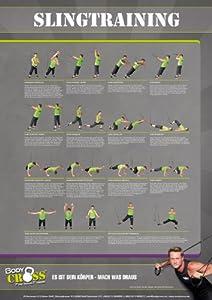 Übungsposter für Schlingentrainer | 26 Übungen | 2-teiliges DIN A0 Plakat | ausführliche Übungsbeschreibung | Sling-Trainer für Functional Training | Sling Trainer Übungen für Anfänger und Fortgeschrittene | von BodyCROSS von BodyCROSS