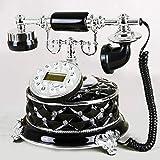 GWF Retro- Festes antikes Weinlese Festnetztelefon der antiken europäischen Telefonmode kreativen Büros (Style : Black-c)