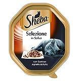 Sheba Selezione in Salsa con Gustoso Agnello e Pollo 85 g - Cibo per Gatto - 22 Confezioni