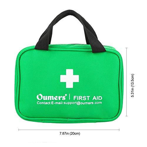 Oumers Erste Hilfe Medizin Kit, Allzweck Notfall Survival Kit für Heim Auto Rucksack Wandern Wander Fischerei Notfallrettung | Sicherheit & erste-Hilfe-Versorgung-kompakt, 23 Sorten (Auto Für Survival-kit)