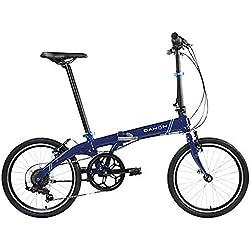 Bicicleta plegable Dahon Vybe c850-d7s 7velocidades ND Azul 20pulgadas bicicleta plegable plegable Piñón Marco, sin 942058