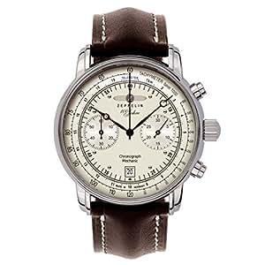 Zeppelin - 7608-1 - Montre Homme - Mécanique - Analogique - Chronomètre - Bracelet cuir Marron
