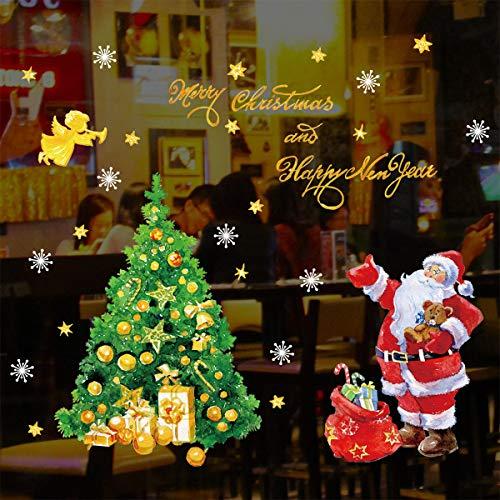 Decalmile Pegatinas Navidad Árbol Navidad Papá Noel