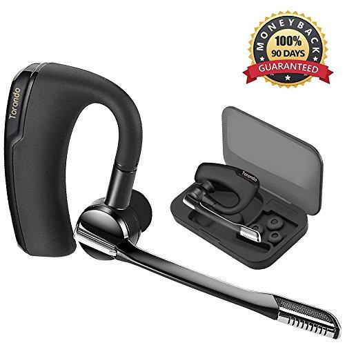 Oreillette Bluetooth, Torondo Oreillette Bluetooth Sans Fil Wireless Headset Kit piéton Mains Libres Écouteur Mono avec Micro pour iPhone Samsung Galaxy HTC LG SONY PC et autres