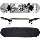 FunTomia® Skateboard mit Mach1 Kugellager und Rillen-Profil Rollen (Rollenhärte 100A) aus 100% 7-lagigem kanadischem Ahornholz (Es stehen verschiedene Farbdesigns zur auswahl) (Geier)