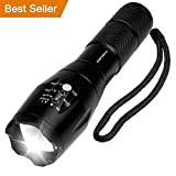 LED Torch, Vansky Pocket Torch Cree XMLT6 Adjustable Focus Tactical Flashlight Zoomable Led Light Water Resistant Camping Torch