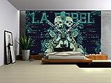 Fototapete Tapete Tapeten Foto Poster Totenkopf HARD ROCK GUITAR 842 VE