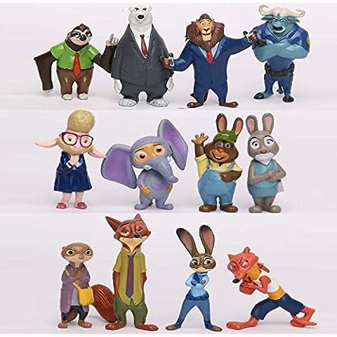 Figura de acción: Movie Zootopia New Figures Playsets of 12