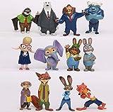 Figura de acción: Movie Zootopia New Figures Playsets of 12 - Artwork - amazon.es