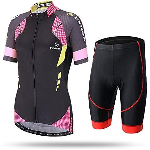 dushow da donna ciclismo bicicletta Jersey Set manica corta con