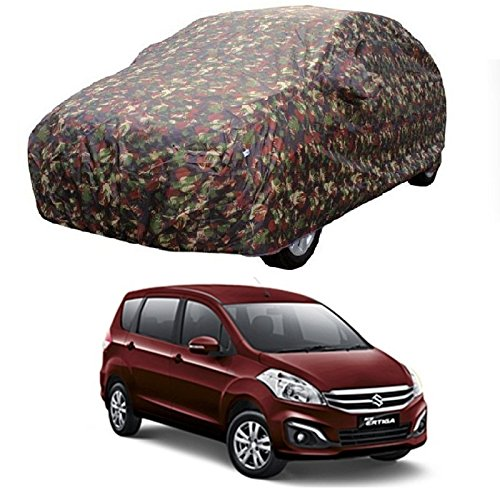 MotRoX Car Body Cover For Maruti Suzuki Ertiga with Side Mirror Pocket (Military Color)  available at amazon for Rs.839