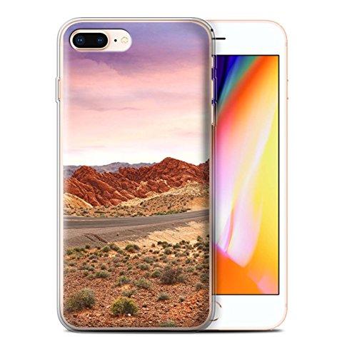 Stuff4 Gel TPU Hülle / Case für Apple iPhone 8 Plus / Tal Muster / Bundesstaat Nevada Kollektion Landschaft